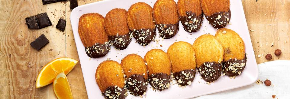 Madeleines à l'orange et au chocolat