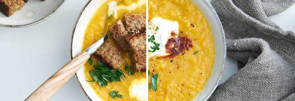 Soupe carotte & céleri-rave kids proof
