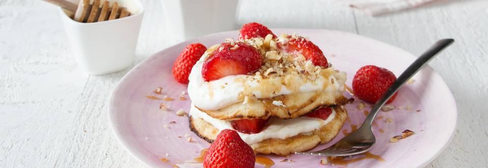 American pancakes aux fraises