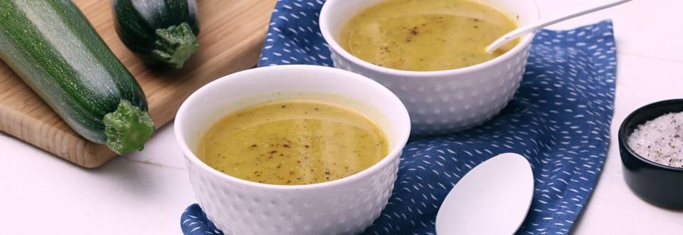 Soupe aux courgettes et moutarde
