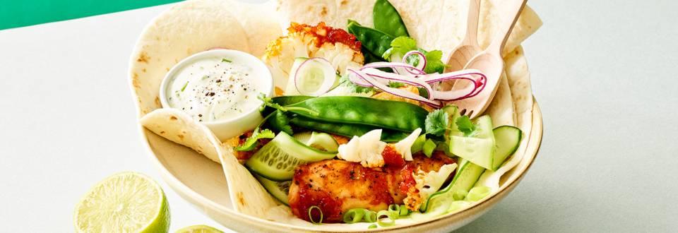 Tacos au chou-fleur grillé