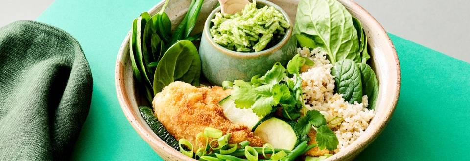 Chicken nuggets et basmati au chou-fleur