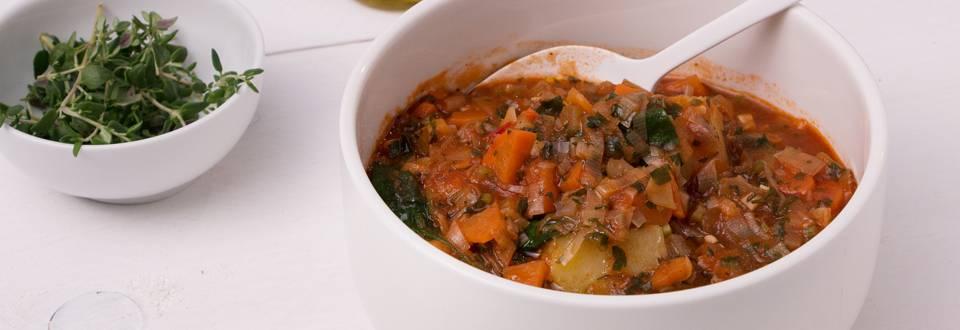 Soupe toscane aux légumes et pain
