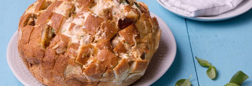Effilochée de pain au lard et fromage
