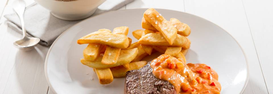 Chateaubriand sauce Stroganoff et frites