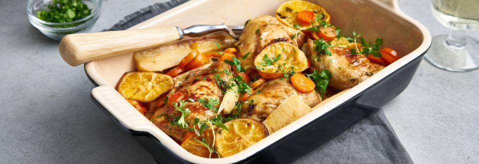 Plat mijoté de poulet aux clémentines