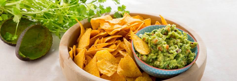 Guacamole aux nachos