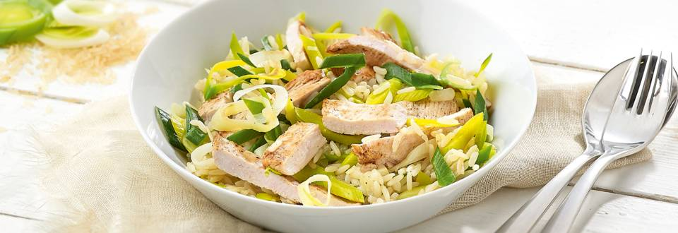 Cassolette de riz et filet de poulet