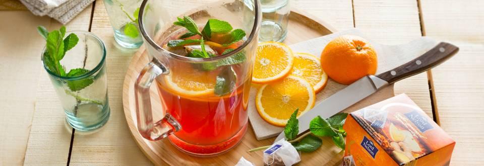 "Ice tea \sport"" à l'orange et au gingembre"