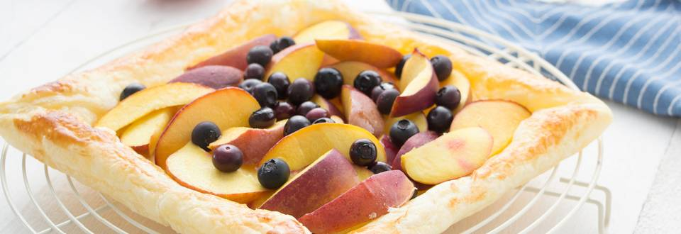 Tarte express aux nectarines
