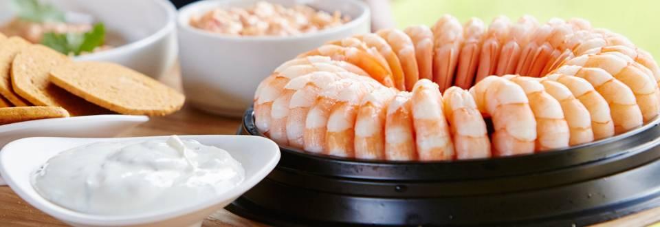 Crevettes et sauce à l'ail