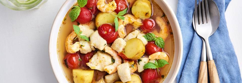 Curry au poisson & crevettes