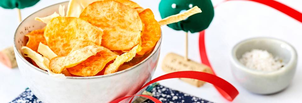 Chips de légumes d'hiver au sel à la truffe