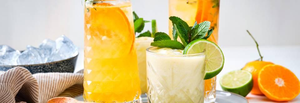 Mocktail ananas-coco – Mocktail mandarine-thym
