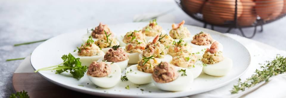 Petits œufs garnis