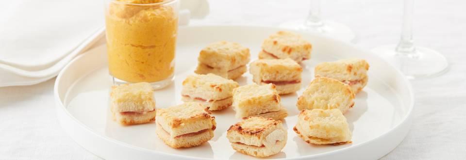 Mini-croques à la mayonnaise de carottes maison