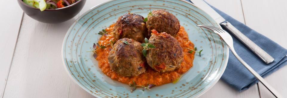 Boulettes de viande hachée estivales aux tomates séchées