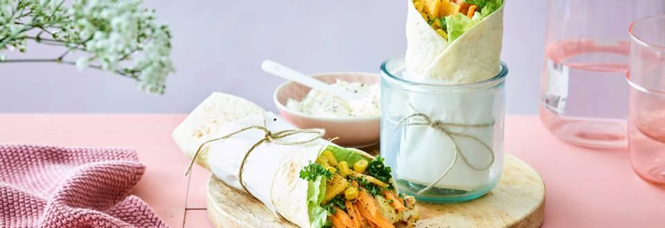 Fancy currywrap met parelhoen