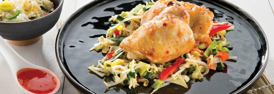 Cuisses de poulet laquées à l'aigre-douce