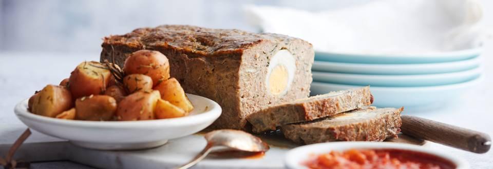 Pain de viande aux œufs