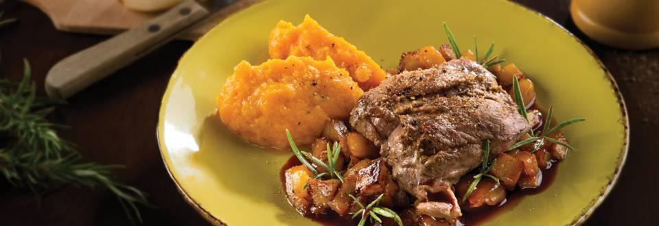Steak de marcassin aux topinambours