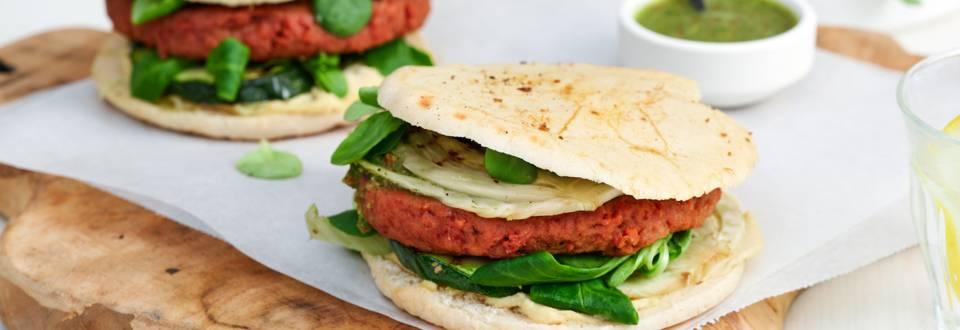 Pita végétarien aux légumes grillés