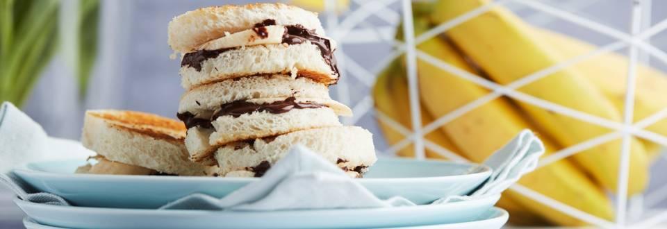 Sandwiches à la banane et au chocolat