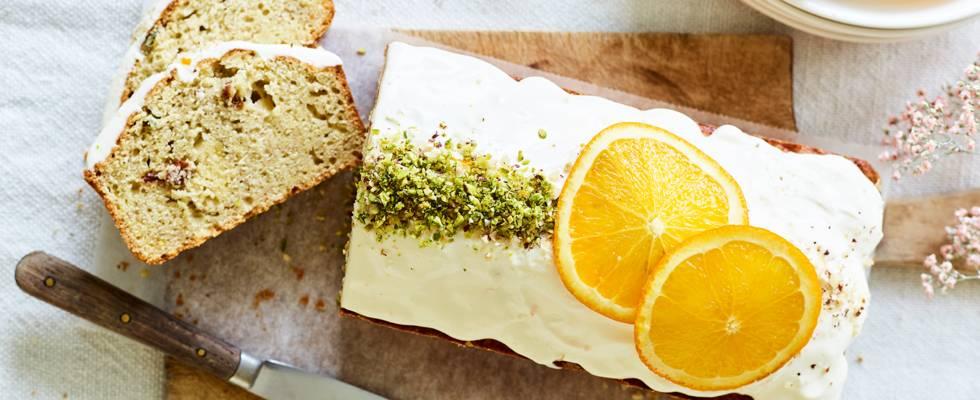 Cake à la banane et crème orange-mascarpone