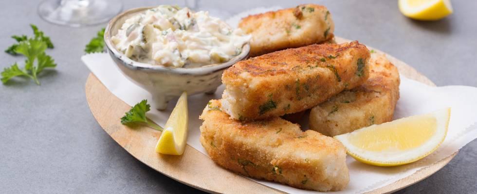 Fish sticks maison sauce tartare