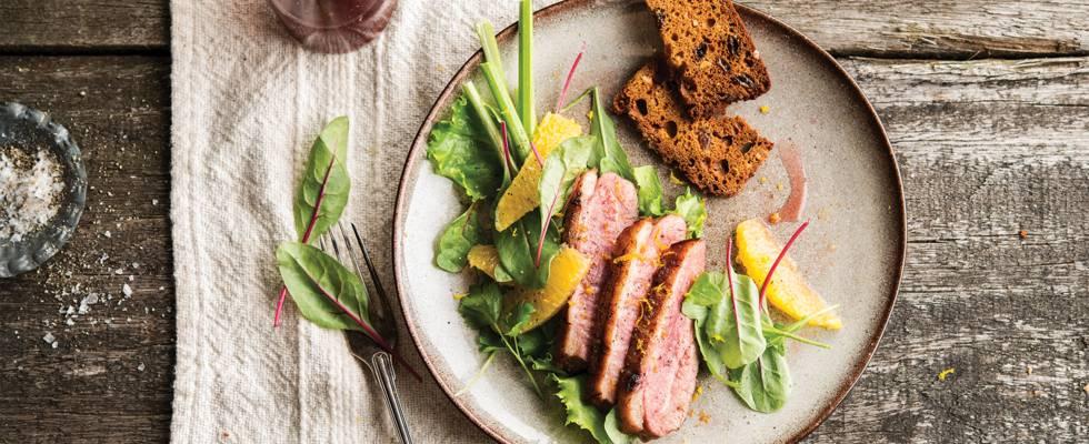 Salade de canard à l'orange et au céleri