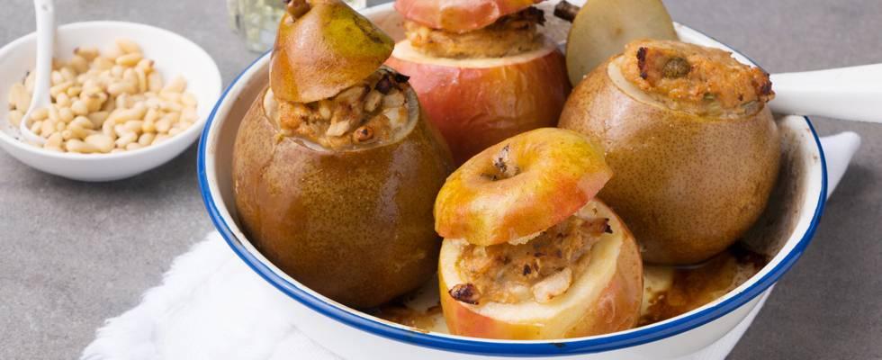 Pommes et poires salées