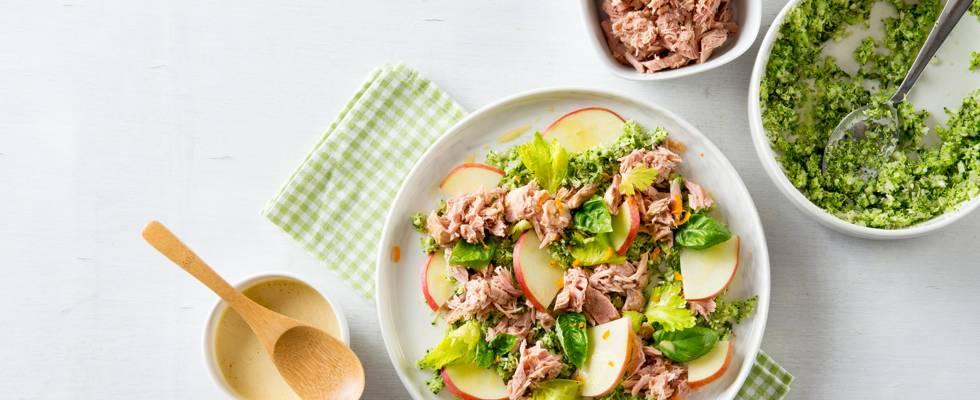 Couscous de brocoli au thon