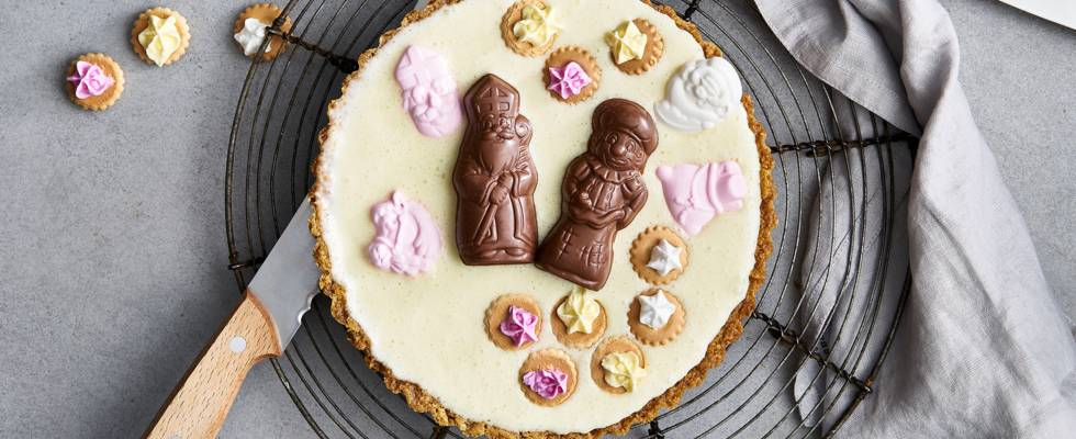 Gâteau de Saint-Nicolas au chocolat blanc